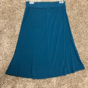 Turquoise stretchy skirt